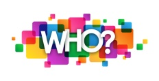"""""""WHO?"""" Vector Overlapping Letters Icon"""